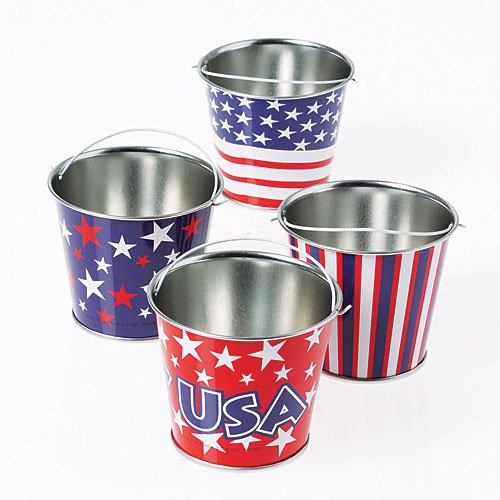 Patriotic Gift Pail - U.S. Toy US4 Mini Patriotic Buckets