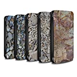 STUFF4 PU Leather Wallet Flip Case/Cover for Apple iPhone X/10 / Pack 15pcs Design / Stone/Rock Collection
