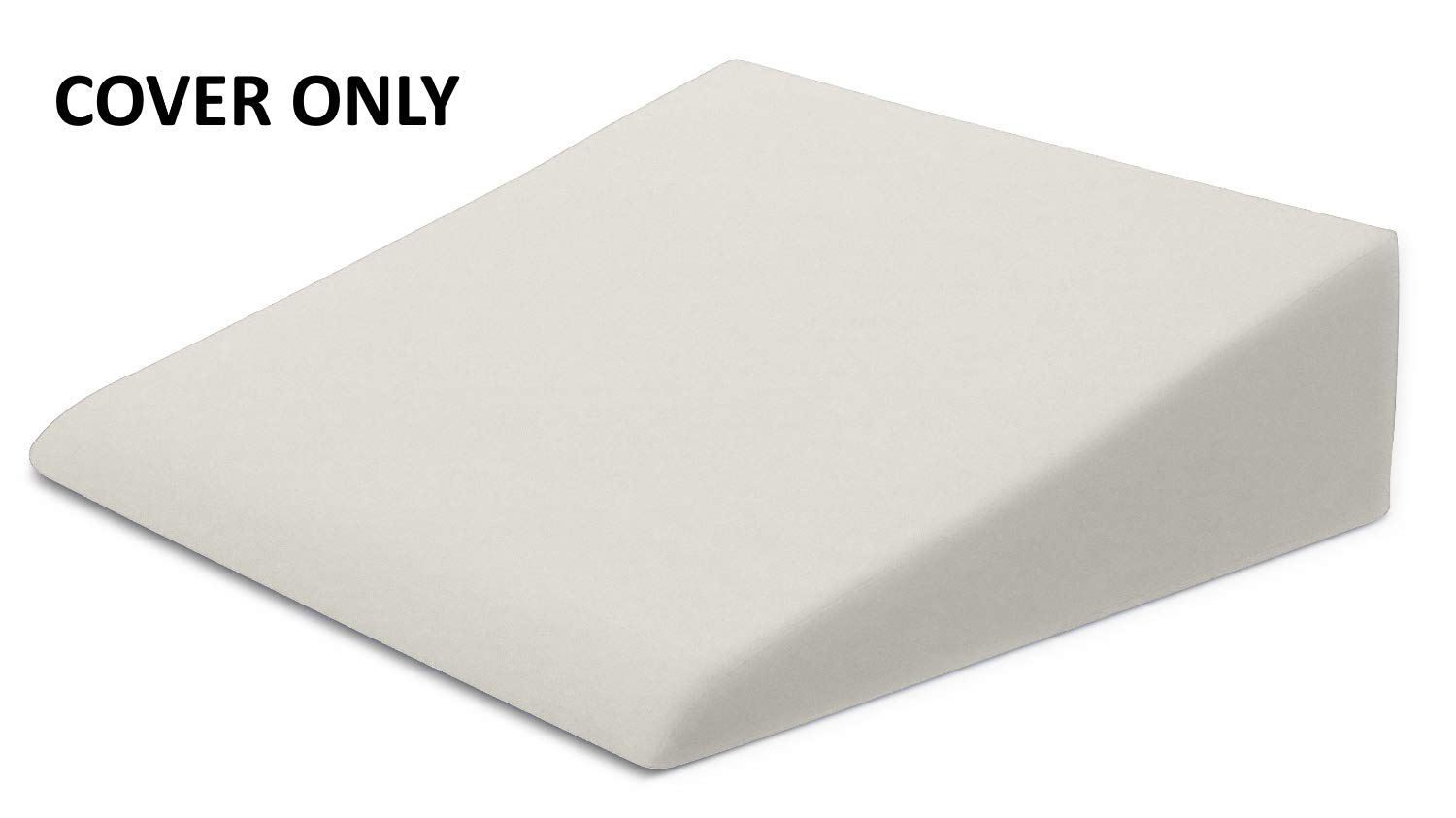 Xtreme Comforts Hypoallergenic Memory Foam Bed Wedge Microfiber Cover Designed to Fit Our (27 'x 25'' x 7'') Bed Wedge Pillow (Ivory)