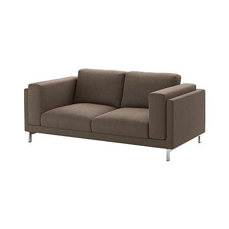 Amazon.com: Ikea Home Bedroom Loveseat cover Teno brown ...