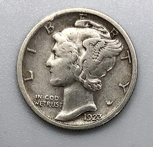 1923 S Silver Mercury Dime .10 Very Good +
