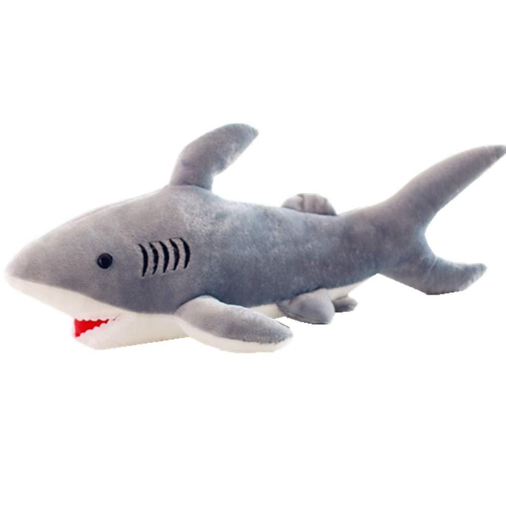Amazon Com Warmshine 20 Inches Shark Plush Toy Large Shark Bolster