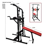 Multi Function Pull Up Dip Station VKR Power Tower Sturdy Chin-Up Bar Stand