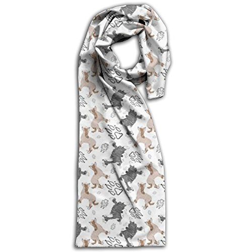 Chinese Crested Fabric Wallpaper Winter Scarves Lightweight Warm Towel Stylish Shawl Scarf - Guide Burberry Size