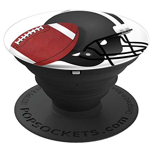 Sports Football Athlete Game Ball Fan Background Design Art - PopSockets Grip and Stand for Phones and Tablets