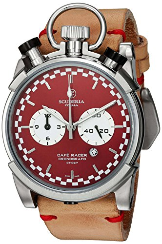 CT-Scuderia-Mens-Corsa-Caf-Racer-Swiss-Quartz-Stainless-Steel-and-Leather-Casual-Watch-ColorBeige-Model-CS20119
