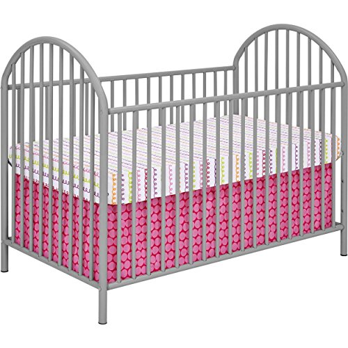 Soft Grey Powder Coated Solid Metal Baby Crib (Cosco Baby Cribs)