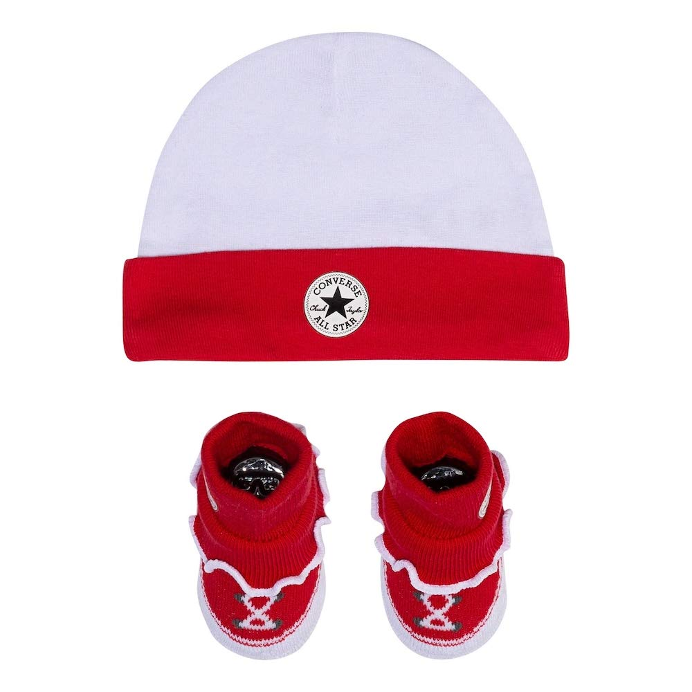 Converse Chuck Taylor Infant Hat and Booties Set (Red(MC0006-R4U)/White, 6-12 Months) by Converse