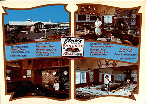 Elmer's Colonial Pancake & Steak House Portland, Oregon Original Vintage Postcard