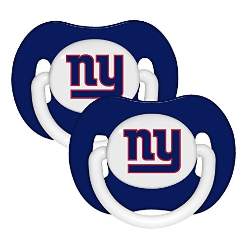 Football Pacifier (NFL Football 2014 Baby Infant Pacifier 2-Pack - Pick Team (New York Giants - Solid))