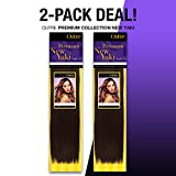 2-PACK DEALS! Human Hair Weave OUTRE Premium Collection New Yaki (18', 1B)