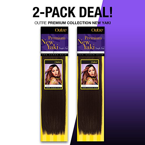 2-PACK DEALS! Human Hair Weave OUTRE Premium Collection New Yaki (18