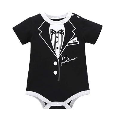 Neugeborene Kind Junge Mädchen Baby-Strampler Kleidung T-Shirt Oberteil Hose