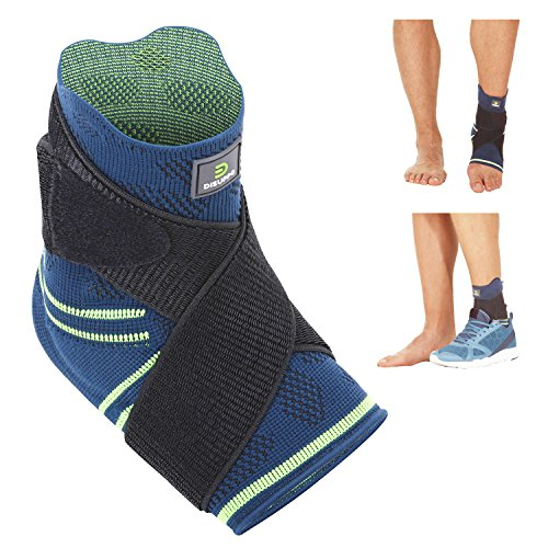 Ankle Brace Adjustable Support Sleeve(Single) for Volleyball, Basketball, Soccer, Running, Sports Protection or Ankle Sprain, Achilles Tendonitis by DISUPPO (X-Large) (Ankle Bracelet Volleyball)