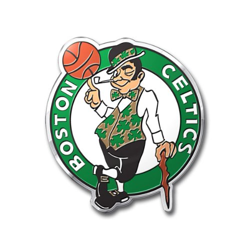 Boston Celtics Color Auto Emblem - Die Cut Hall of Fame Memorabilia