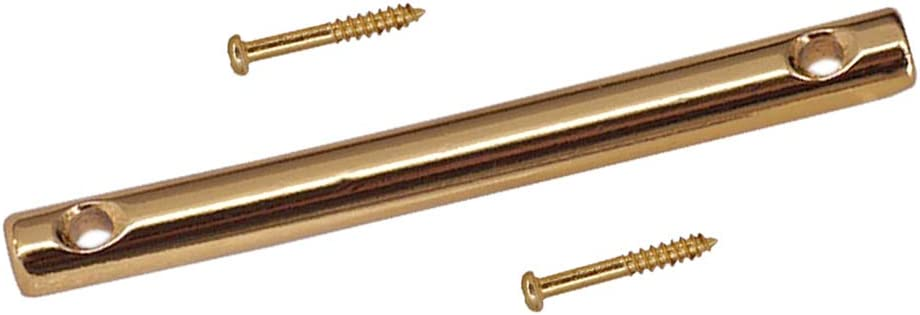Iron Electric Guitar String Retainer Bar Tension Bar Electric Guitar Parts with 2 Pieces Screws 45mm Golden