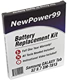 NewPower99 Battery Replacement Kit for Samsung Galaxy Tab S2 9.7 SM-T813 with Video Installation DVD, Installation Tools, and Extended Life Battery