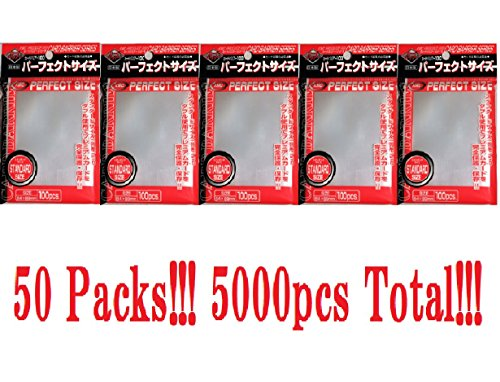KMC 100 Card Barrier PERFECT SIZE (50 packs/Total 5000) by KMC