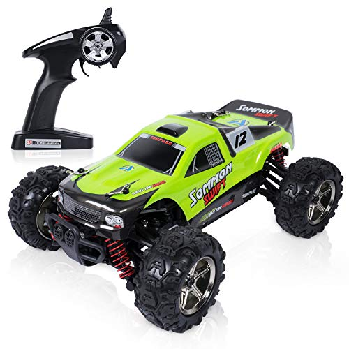 Gas Powered Rc Race Cars - Toch RC Car, High Speed of 40km/h Race Car, 2.4G Radio Remote Control Off Road Cross Country Vehicle for Boys Girls Kids, Green