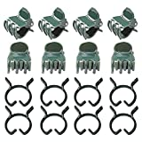 Pengxiaomei 200 Pcs Plant Clips, Green Plant Support Clips Orchid Clip Vine Clips for Supporting Stems, Vines, Stalks to Grow Upright and Makes Flowers Plants Vegetables Healthier