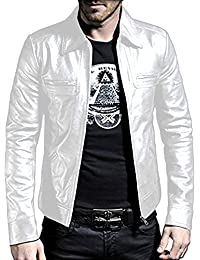 Leather Jacket White l4whwS