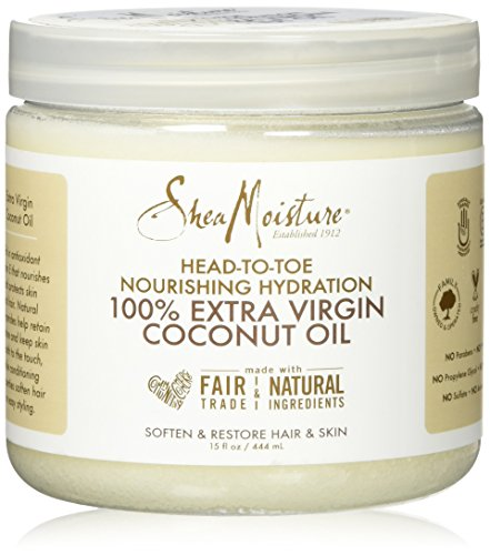 SheaMoisture 15 oz 100% Extra Virgin Coconut Oil (Shea Butter Hair Oil)
