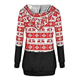 BOOMJIU Woman Long Sleeve V Neck Drawstring Kangaroo Pocket Patchwork Hoodie
