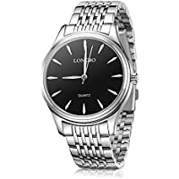 Womens Watches,Ladies Couple Silver Stainless Steel Quartz Waterproof Watch for Women,Female Fashion Dress Business Casual Couple Wrist Watches(Woman Watch)