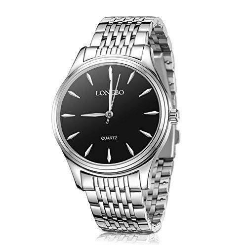 Womens Watches,Stainless Steel Quartz Waterproof Watch for Women,Ladies Fashion Dress Business Casual Couple Wrist (Stainless Steel Couple Watches)