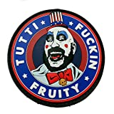 Captain Spaulding Tutti Fuckin Fruity House of 1000 Corpses The Devils Rejects PVC Rubber Morale Patch, Hook Backed Morale Patch by NEO Tactical Gear
