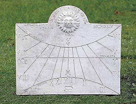 pompidu-living Sonnenuhr, Sun Dial H 40 Farbe Hellgrau