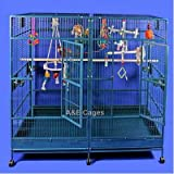Enormous Double Macaw Bird Cage