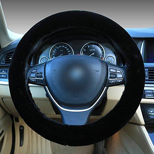 Silence-Shopping Plüsch-Stretch- auf dem Fahrzeug-Lenkrad-Abdeckung Klassisches rosa Auto-Rad-Schutz