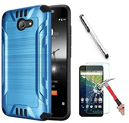 - Alcatel A30 (Amazon Vision) / Alcatel Zip LTE 9 Amazon/Alcatel A577VL A576BL / Alcatel Kora Case. Slim Brush Texture Hybrid Defender Armor Protective Case Cover (Brush Blue)