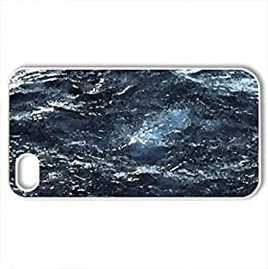 lintao diy Blue Deep Ocean - Case Cover for iPhone 4 and 4s (Oceans Series, Watercolor style, White)