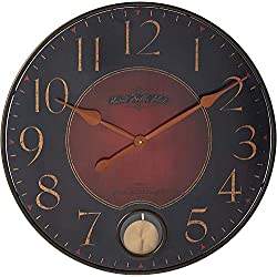 Howard Miller Harmon Gallery Wall Clock 625-374 - Oversized Wrought-Iron with Quartz Movement