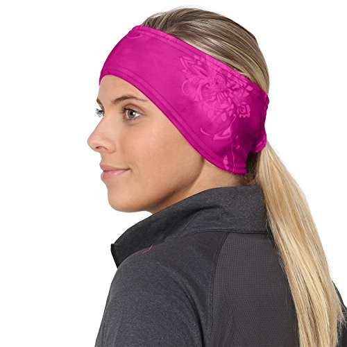 TrailHeads Women's Print Ponytail Headband – 12 prints - Made in USA - pink splash by TrailHeads (Image #1)