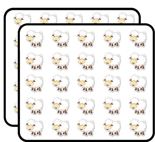 - Sheep Lamb Sticker for Scrapbooking, Calendars, Arts, Kids DIY Crafts, Album, Bullet Journals 50 Pack