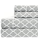 Best Royal Tradition King Size Beds - King size- Grey Printed Meridian 100% Cotton Percale Review