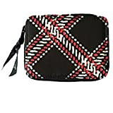 Vera Bradley Travel Pill Case in Minsk Plaid Solid Black Lining