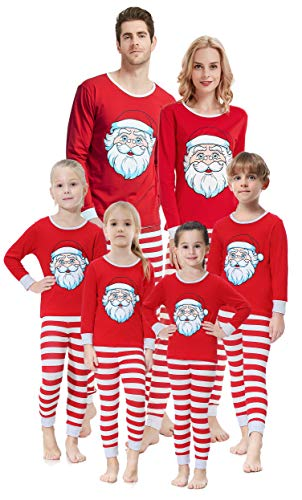 Christmas Santa Pajamas for Men 2 Pieces Dad Sleepwear Long Sleeeve Shirt Set Matching Family Pjs Size M Christmas 2 Piece Santa
