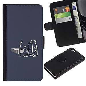 All Phone Most Case / Oferta Especial Cáscara Funda de cuero Monedero Cubierta de proteccion Caso / Wallet Case for Apple Iphone 5 / 5S // Matchstick Funeral - Funny
