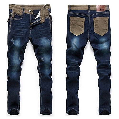 New Youth Fashion Comfortable Men'S Casual Loose Jeans Pants Straight Simple Men...