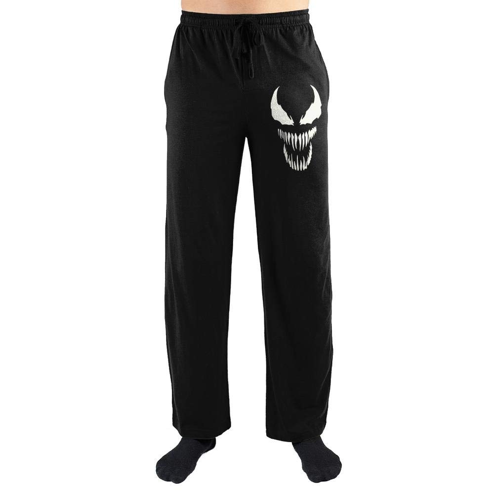 Venom Face Marvel Comics Mens Loungewear Lounge Pants