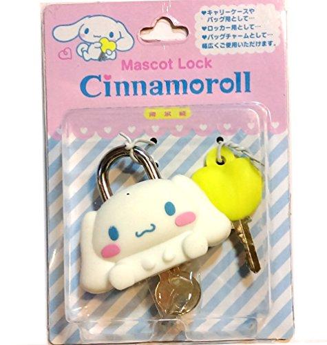 (Japan Import) Cinnamoroll Mascot Lock Solid Brass Padlock with Two Keys