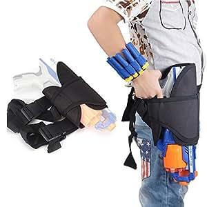Aolvo Bolsa de Cintura para Niños Nerf, Pistola Nerf Ajustable para Pistolas Nerf Bolsa de Bolsa para Pistolas Nerf N-strike Elite Series Blaster Toys