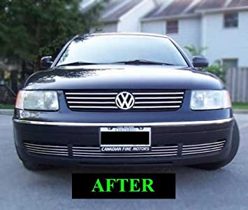 ... VW PASSAT LOWER CHROME GRILL GRILLE KIT 2000 2001 2002 2003 2004 99 00 01 02 03 04 05 B5 GLS GLX WAGON GL 4MOTION 1.8 TURBO W8 B5.5: Automotive