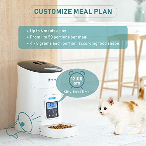 Alimentador automático para gatos y perros con temporizador programable grabación de voz 5
