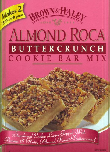 Amazoncom Almond Roca Buttercrunch Cookie Bar Mix Brownhaley