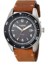 Unisex AD/1002NVSVBN Solar Powered Date Function Dial Brown Leather Strap Watch